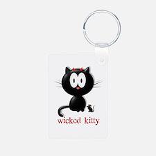 wicked kitty Keychains
