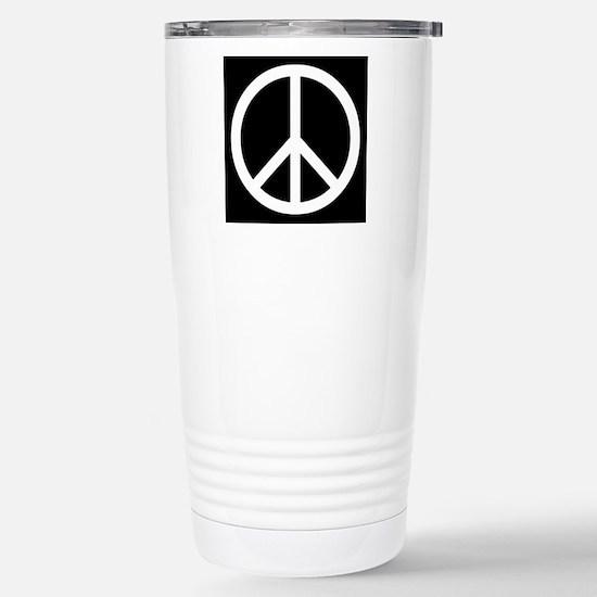 White Peace Sign Travel Mug