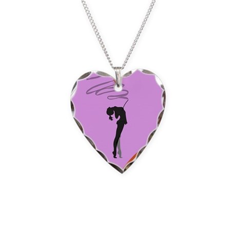 Rhythmic Gymnast Necklace Heart Charm