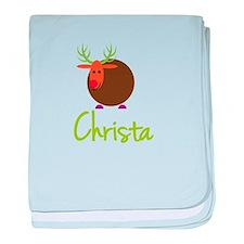 Christa the Reindeer baby blanket