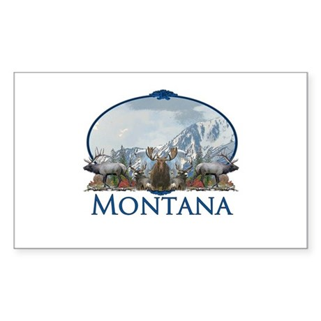 Montana Sticker (Rectangle 50 pk)