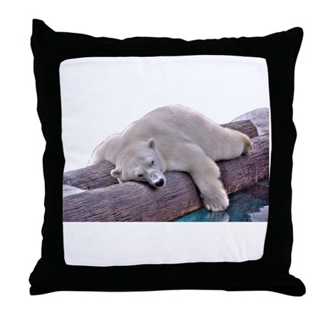 Polar Bear Throw Pillow : Polar Bear Throw Pillow by ArtisticHorizon