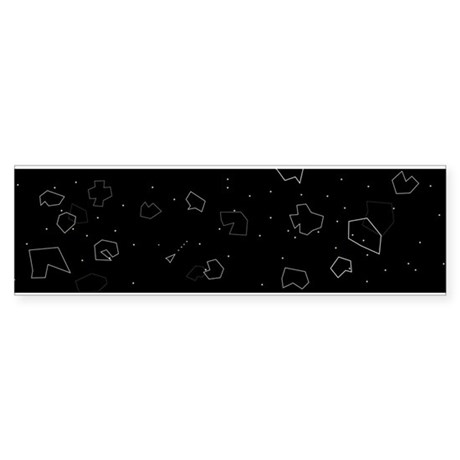 Asteroids! Sticker (Bumper)