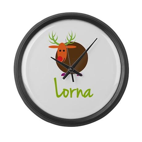 Lorna the Reindeer Large Wall Clock
