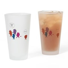 Heart Zombies Color Drinking Glass
