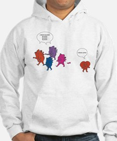 Heart Zombies Color Hoodie