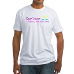Carlton School for the Deaf Fitted T-Shirt