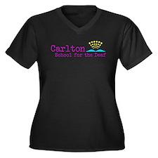 Carlton School for the Deaf Women's Plus Size V-Ne