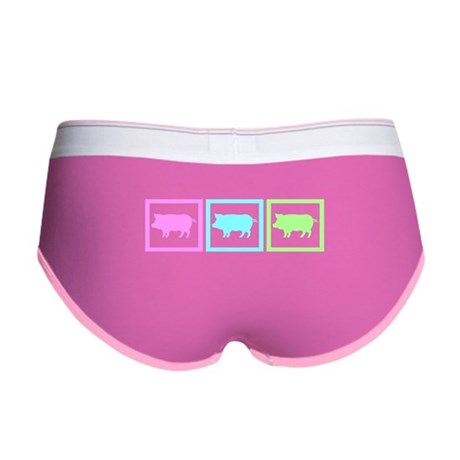 Pig Squares Women's Boy Brief
