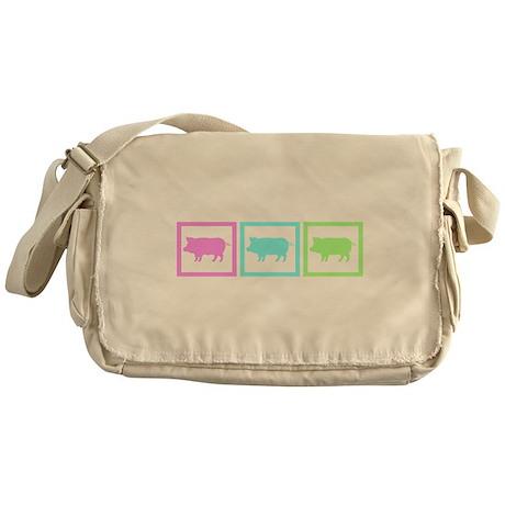 Pig Squares Messenger Bag