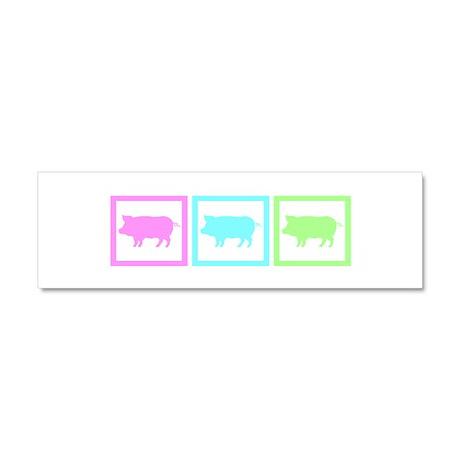 Pig Squares Car Magnet 10 x 3