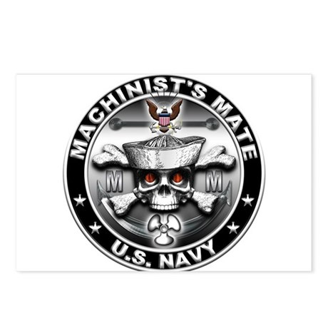 USN Machinists Mate Skull MM Postcards (Package of