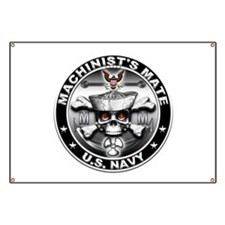 USN Machinists Mate Skull MM Banner