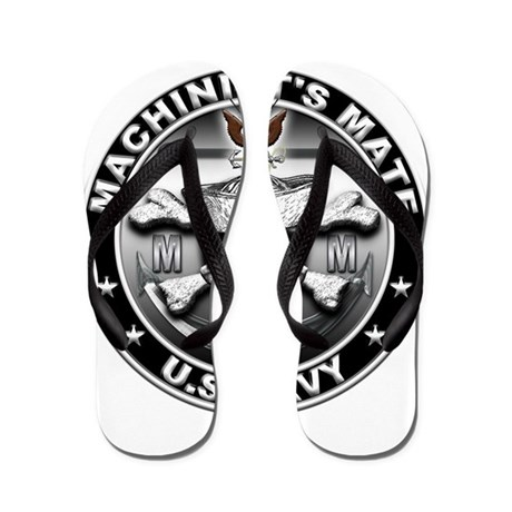 USN Machinists Mate Skull MM Flip Flops