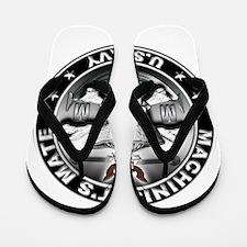 USN Machinists Mate Skull MM Flip Flops