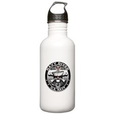 USN Navy Diver Skull ND Water Bottle