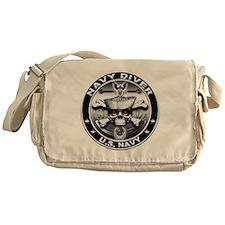 USN Navy Diver Skull ND Messenger Bag