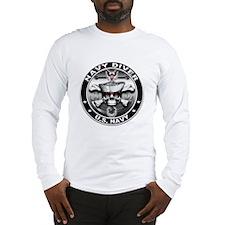 USN Navy Diver Skull ND Long Sleeve T-Shirt