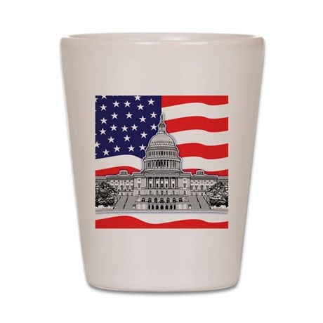 US Capitol Building Shot Glass