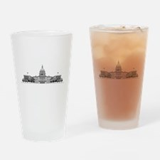 U.S. Capitol Building Art Drinking Glass