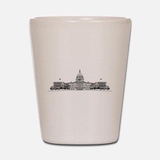 U.S. Capitol Building Art Shot Glass