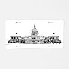 U.S. Capitol Building Art Aluminum License Plate
