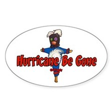 The Hurricane Voodoo Doll Oval Decal