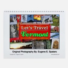"Vermont ""Let's Travel"" Wall Calendar"