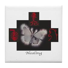 Reiki Healing Trinity Tile Coaster