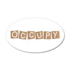 occupy cardboard sign 22x14 Oval Wall Peel