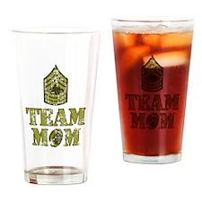 Football Team Mom - Sergeant Stripes Drinking Glas