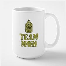 Basketball Team Mom - Sergeant Stripes Large Mug