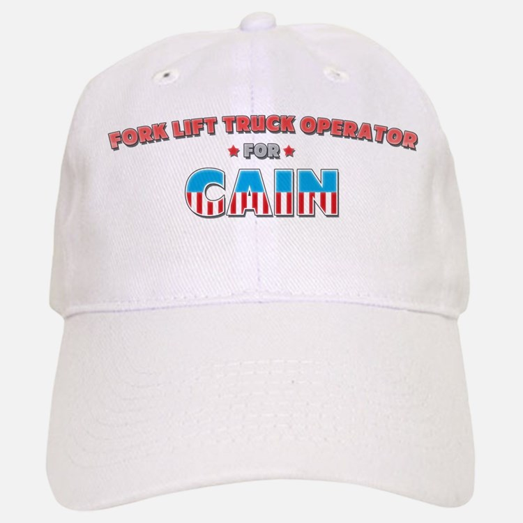 Fork lift truck operator for Baseball Baseball Cap