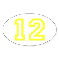 Number 12 Oval Decal
