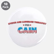 """Speech and Language Therapist 3.5"""" Button (10 pack"""