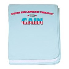Speech and Language Therapist baby blanket