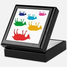 Fainting Goats Rainbow Keepsake Box