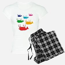 Fainting Goats Rainbow Pajamas