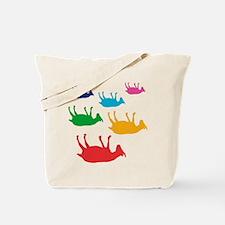 Fainting Goats Rainbow Tote Bag
