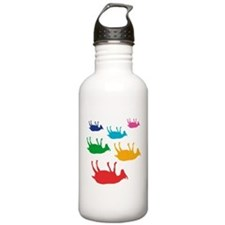 Fainting Goats Rainbow Water Bottle