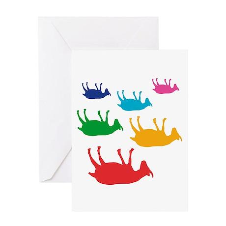 Fainting Goats Rainbow Greeting Card