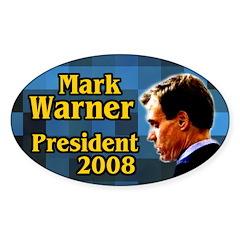 Mark Warner for President Oval Decal