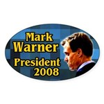 Mark Warner for President Oval Sticker