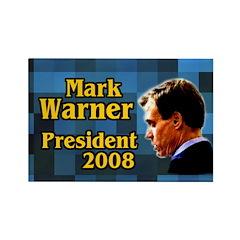 Mark Warner for President Campaign Magnet