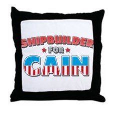 Shipbuilder for Cain Throw Pillow