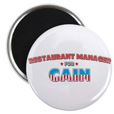 "Restaurant manager for Cain 2.25"" Magnet (10 pack)"