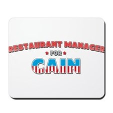 Restaurant manager for Cain Mousepad