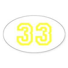 Number 33 Oval Decal