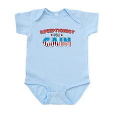 Receptionist for Cain Infant Bodysuit