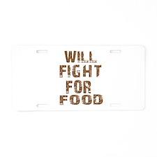 Cool Fight designs Aluminum License Plate